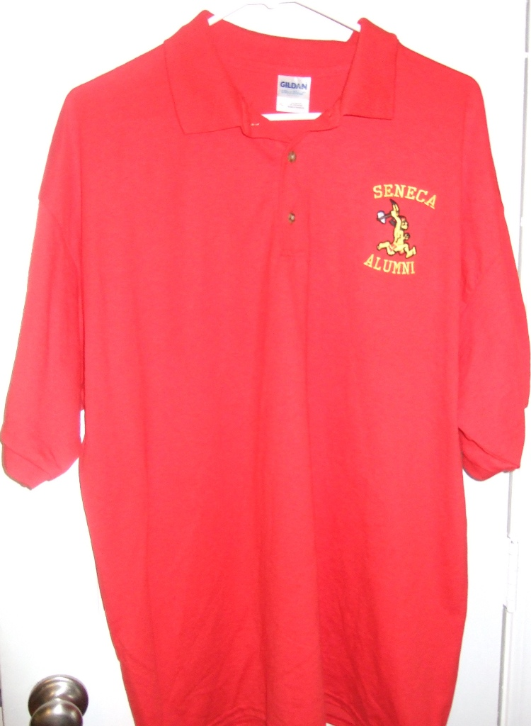Shirts seneca high school louisville kentucky reunion for Embroidered logos on shirts